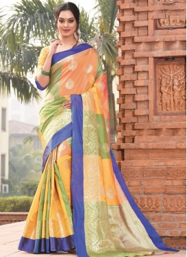 Woven Work Traditional Saree For Ceremonial