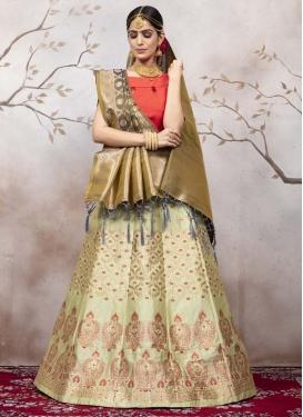 Woven Work Trendy A Line Lehenga Choli