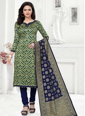 Woven Work Trendy Churidar Salwar Suit