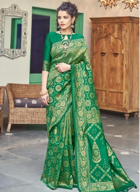 Woven Work Trendy Classic Saree