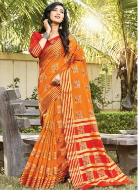 Woven Work Trendy Classic Saree For Ceremonial
