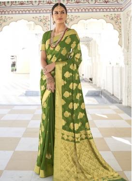 Woven Work Trendy Designer Saree