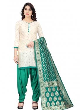 Woven Work Trendy Patiala Salwar Kameez For Casual