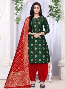 Woven Work Trendy Patiala Salwar Suit
