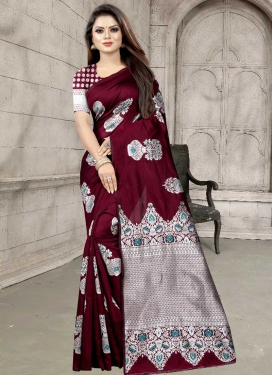 Woven Work Trendy Saree For Casual