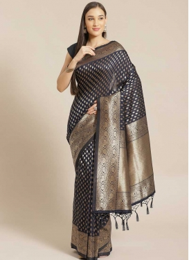 Woven Work Viscose Designer Contemporary Style Saree