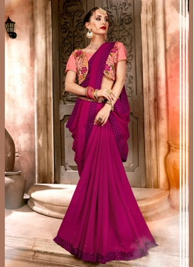 Zesty Embroidered Festival Classic Designer Saree